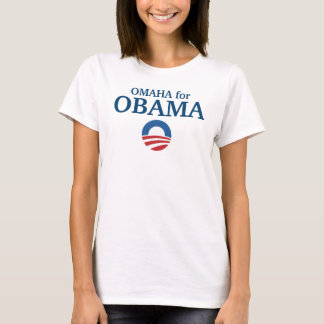 OMAHA for Obama custom your city personalized T-Shirt