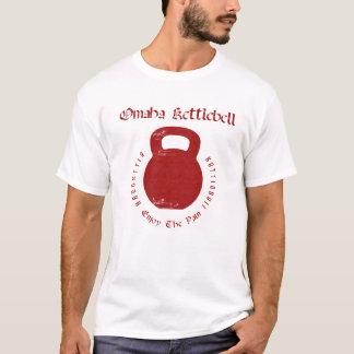 Omaha Kettlebell on White T-Shirt