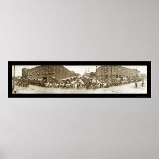 Omaha Merchants Photo 1908 Poster