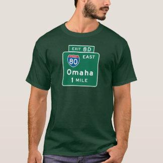 Omaha, NE Road Sign T-Shirt
