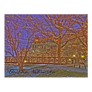 Omaha Nebraska Christmas Lights Postcard