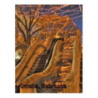 Omaha Nebraska Winter Lights Postcard
