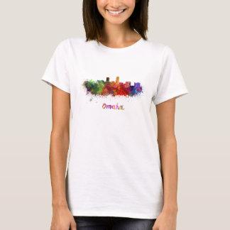 Omaha skyline in watercolor T-Shirt