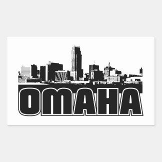 Omaha Skyline Rectangular Sticker