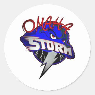 Omaha STORM Round Sticker