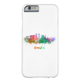 Omaha V2 skyline in watercolor Barely There iPhone 6 Case