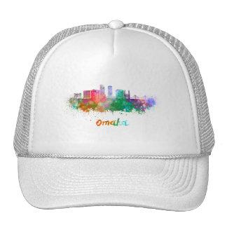 Omaha V2 skyline in watercolor Cap