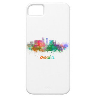 Omaha V2 skyline in watercolor iPhone 5 Covers
