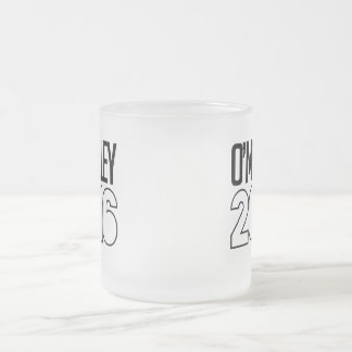 O'Malley 2016 Bold Frosted Glass Mug
