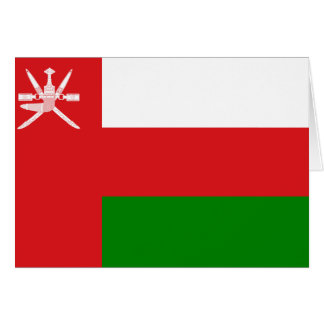 Oman Flag Note Card