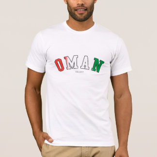 Oman in national flag colors T-Shirt