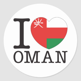 Oman Love v2 Classic Round Sticker