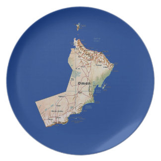 Oman Map Plate