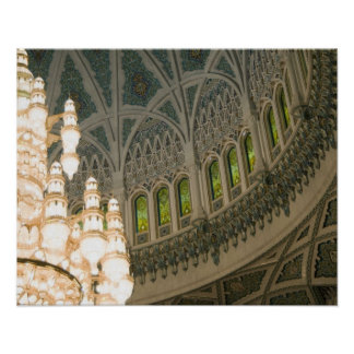 Oman, Muscat, Sultan Qaboos mosque Poster