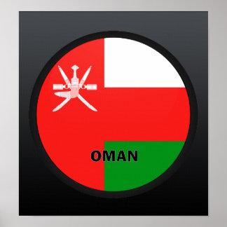 Oman Roundel quality Flag Poster