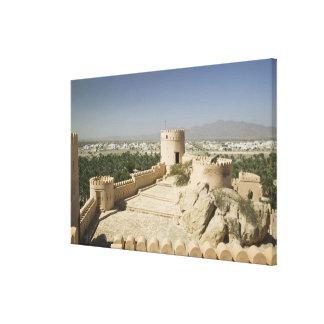 Oman, The Batinah Plain, Nakhal. Nakhal Fort, at Canvas Print