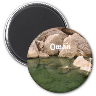 Oman Watering Hole 6 Cm Round Magnet