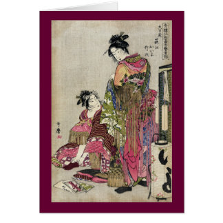 Omando – Ogie Oiyo and Takeji by Utamaro Card