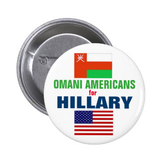 Omani Americans for Hillary 2016 6 Cm Round Badge