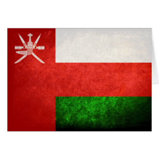 Omani Flag Note Card