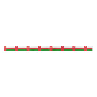 Omani flag satin ribbon
