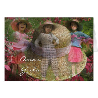 Oma's Girls Card