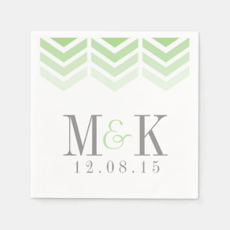 Ombre Arrows Modern Chevron Modern Monogram Napkin Disposable Serviettes