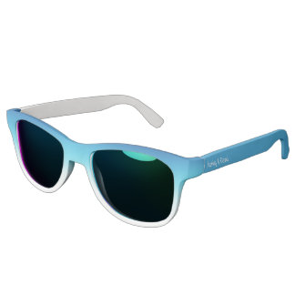 Ombre Blue Green Custom Name Template Text Sunglasses