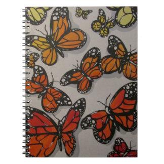 Ombré Butterflies Notebook