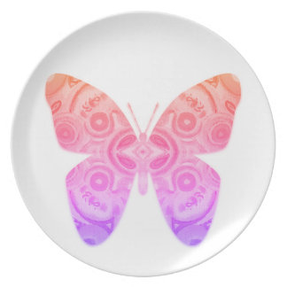 Ombre Butterfly Plate