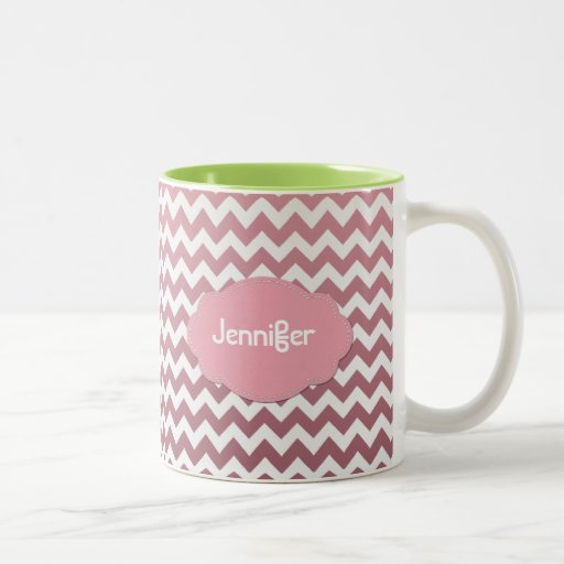 Ombre Chevron - Add a name - Pick a Color - Coffee Mugs