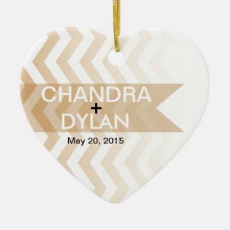 Ombre Chevron Style! Wedding blush Christmas Ornament