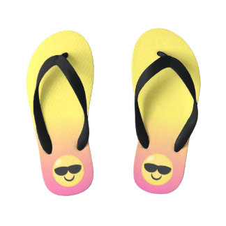 Ombre Cool Emoji Dude Flip Flops