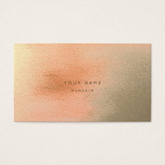 Ombre Coral Gold Metal Abstract Appointment Card