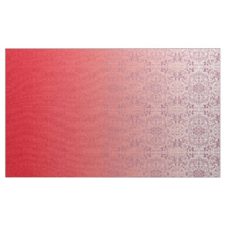 Ombre Damask  Deep Pink LOPh Fabric