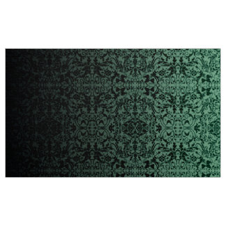 Ombre Damask Green/Black LOPc Fabric