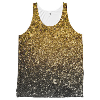 Ombre glitter sparkling All-Over print singlet