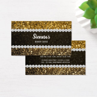Ombre glitter sparkling business card