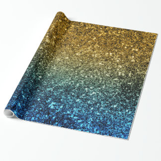 Ombre glitter sparkling wrapping paper