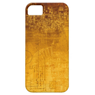 Ombre Gold Circuit Board computer geek nerd Case For The iPhone 5