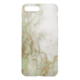 Ombre Gold Mint Green  Marble White Greenly iPhone 7 Plus Case