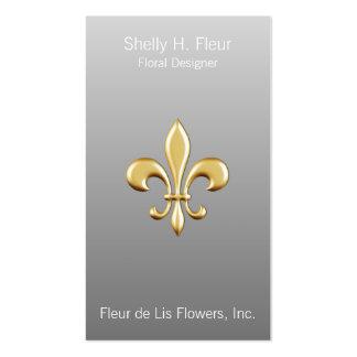 Ombre Golden Fleur De Lis Business Card Templates