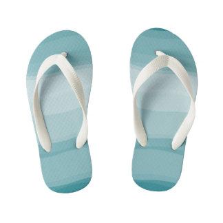 Ombre Gradient Pattern Cool Flip Flops Thongs