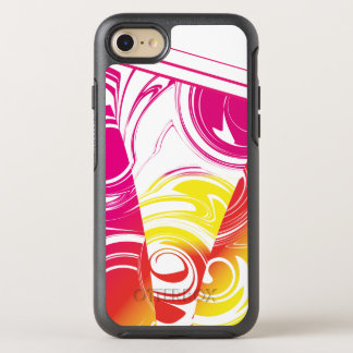 Ombre Hot Pink Red Yellow Marble Pattern OtterBox Symmetry iPhone 8/7 Case