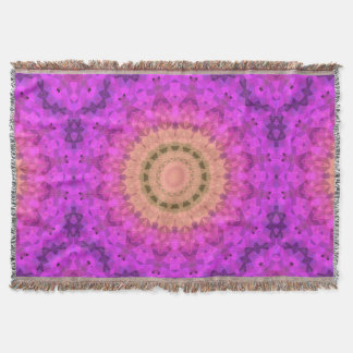 Ombre Kaleidoscope 2 Throw Blanket