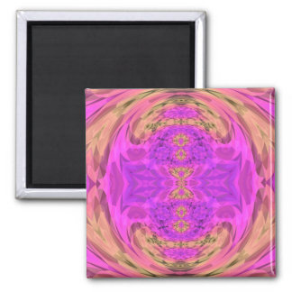 Ombre Kaleidoscope 3 Square Magnet