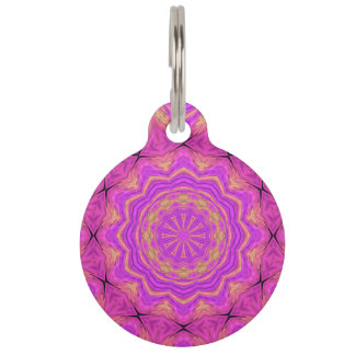 Ombre Kaleidoscope 4 Pet ID Tag