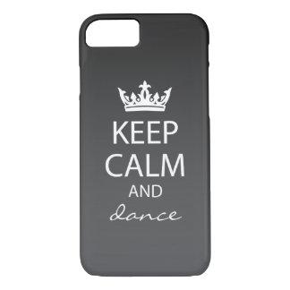Ombre Keep Calm iPhone 7 Case (black)