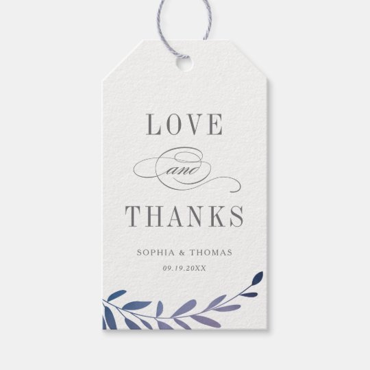 Ombre laurel love and thanks gift tags