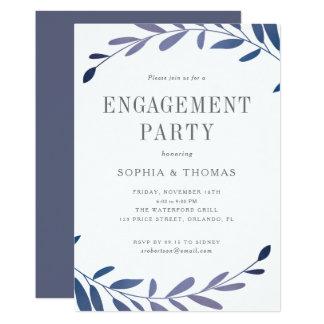 Ombre laurels engagement party invitation
